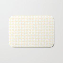 Small Diamonds - White and Cornsilk Yellow Bath Mat