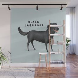 Black Labrador Wall Mural