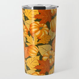Pumpkins and Autumn Leaves Party Travel Mug