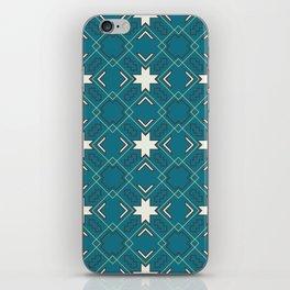 Ethnic pattern in blue iPhone Skin