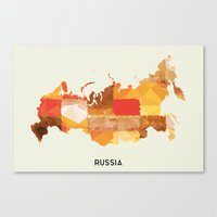 russia Canvas Prints featuring Russia by In Full Color
