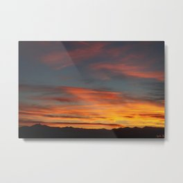 Rocky Mountain Silhouette Metal Print