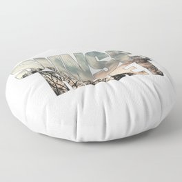 Sunset Reset - Inspirational Graphic Design Floor Pillow