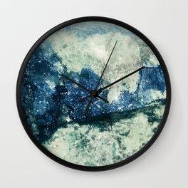 Azurite Waves Wall Clock