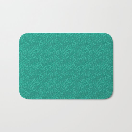 Abstract turquoise green pattern . Bath Mat