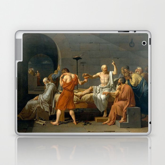 Jacques Louis David The Death of Socrates Laptop & iPad Skin