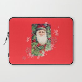 SANTA CLAUS with Stainled Glass effect Laptop Sleeve