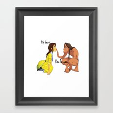 You Tarzan, Me Jane Framed Art Print
