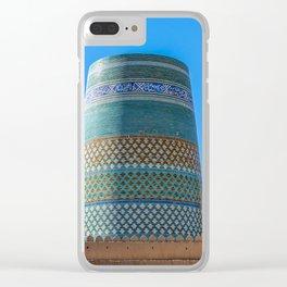 Unfinished Minaret - Khiva, Uzbekistan Clear iPhone Case