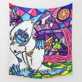 Yeti Love Pink Lemonade Wall Tapestry