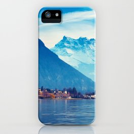 Stunnigly Spectacular Romantic Fairytale Chillon Castle Lake Geneva Swiss Europe Ultra HD iPhone Case
