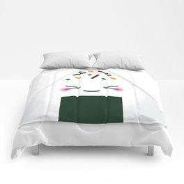 Happy onigiri Comforters