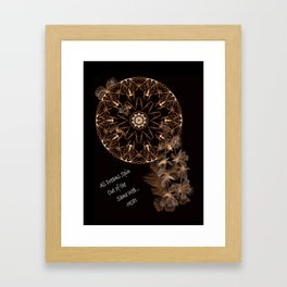 All Dreams Sin Out of the Same Web ~ Hopi Framed Art Print