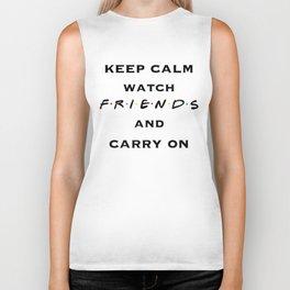Keep Calm, Watch FRIENDS, and Carry On Biker Tank