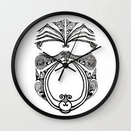 Black and white moko Wall Clock