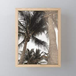 Tropical Breeze and Palm Trees Framed Mini Art Print