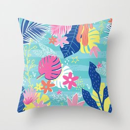 Tropical Vibes Throw Pillow