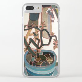 Happy Plant Clear iPhone Case