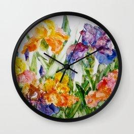 Multicolored iris Wall Clock