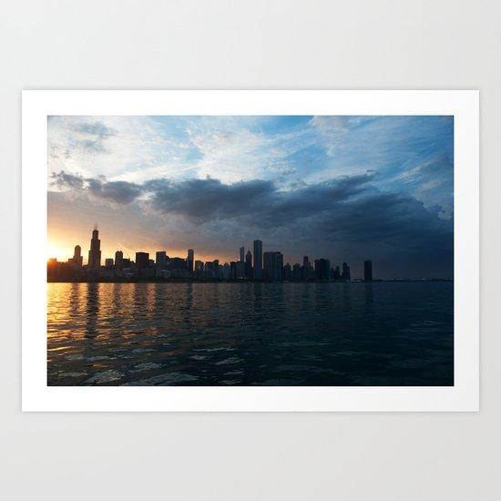 Dusk Over Chicago Art Print
