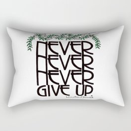 Churchill Quote With Birch and Leaves Rectangular Pillow