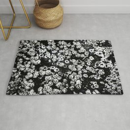 Black and White Barnacles Rug