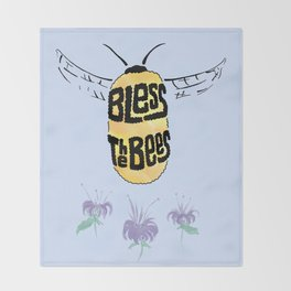Bless the Bees Throw Blanket