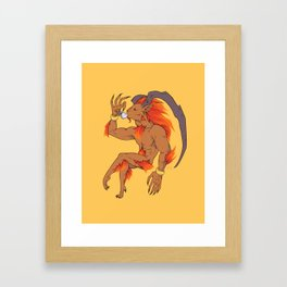 Tea Toting Ifrit Framed Art Print