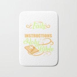 Follow Instructions Holy Bible Bath Mat