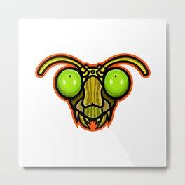 Praying Mantis Mascot Metal Print