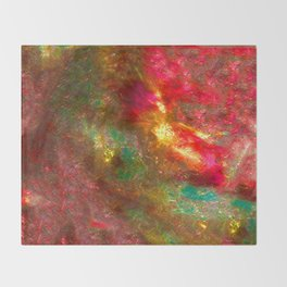 Fire Fairy In Paradi Throw Blanket