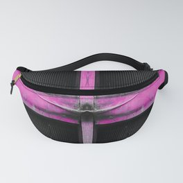 old pink wooden door abstract background Fanny Pack