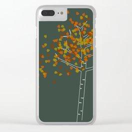 Lone Birch Clear iPhone Case