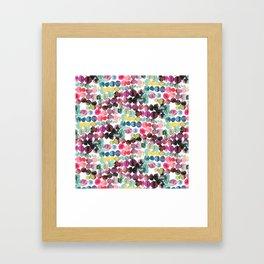Colorful Polka Dots Ink Bleeding Framed Art Print