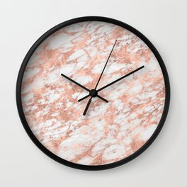 Massarossa rose gold marble - petal pink Wall Clock