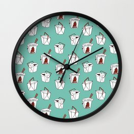 Rice takeout chinese food container new york style chinese food pattern Wall Clock
