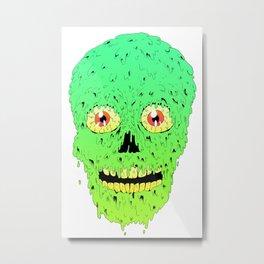 Skull Slime Metal Print