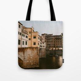 Ponte Vecchio at Dusk Tote Bag