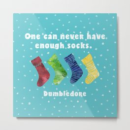 One can never have enough socks. Dumbledore Metal Print