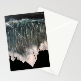 Monsters of Nazare (oil on canvas) Stationery Cards