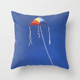 Rainbow Kite Throw Pillow