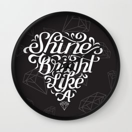 Shine Bright Wall Clock