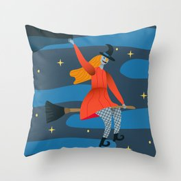 Myth Witch Throw Pillow