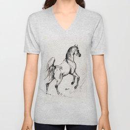 Jumping arabian horse Unisex V-Neck