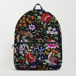Manton, Spanish flamenco shawl detail Backpack