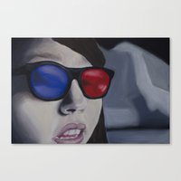 3d Canvas Prints featuring 3D by Shay R
