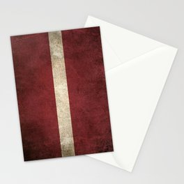 Old and Worn Distressed Vintage Flag of Latvia Stationery Cards