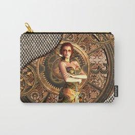 Steampunk, beautiful steam women Carry-All Pouch