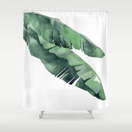Tropical Island Leaves Pair Shower Curtain