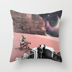 Lonely waiting Throw Pillow